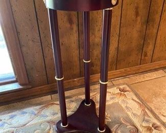 """63.Marble Top Stand  27 ½""""H x 11 ¾"""" sq.  $40"""