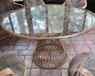 Retro Porch set in mint condition - sturdy - 7 pieces $350