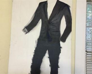 Large unfinished portrait