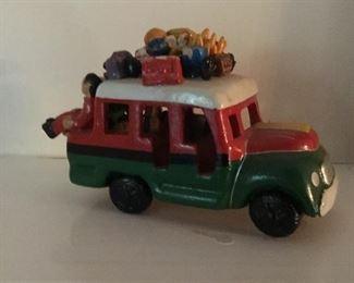 Mexican bus sculpture