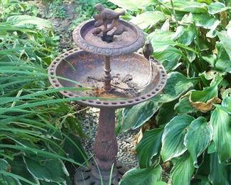 Cast iron birdbath