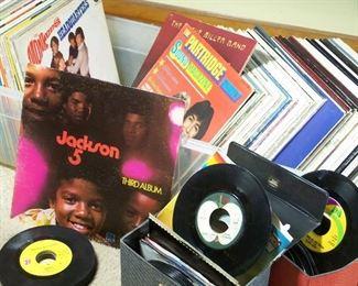 Vintage albums & 45 records