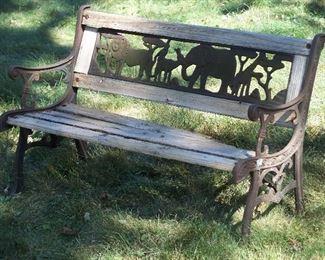 Child's Noah's Ark garden bench