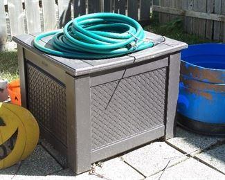 Rubbermaid hose storage & deck box