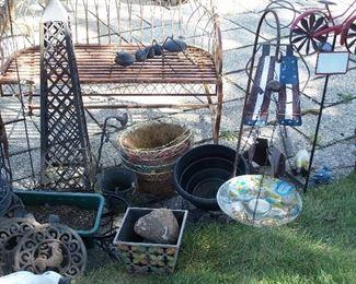 Planters, trellises, hanging baskets & more