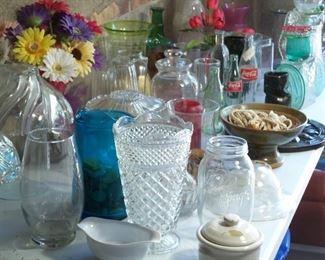 Glass jars, vases, bottles