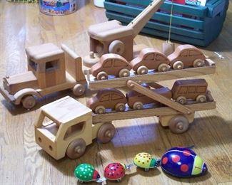 Mid-Century Scandinavian wood toys