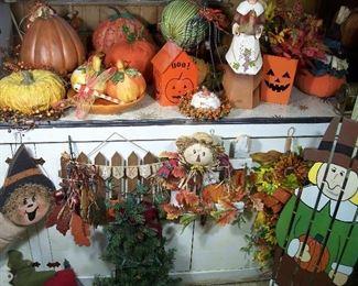 Ceramic pumpkins, gourds, Harvest & Halloween