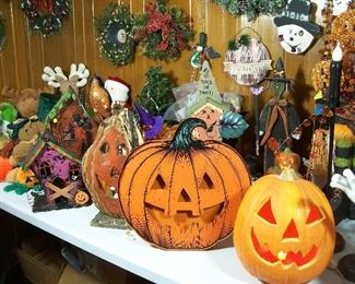 Lighted Halloween decor