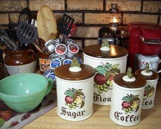 60's canisters & jadeite, Keurig