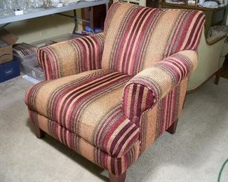 New plush upholstered chair