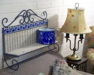 Enamelware & lamps galore