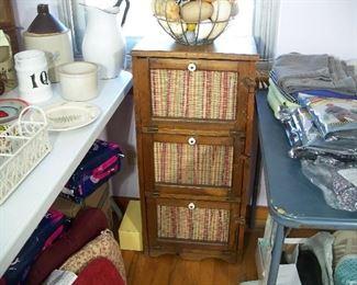 Vintage dry goods storage bin