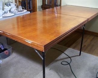 Folding wall-mount banquet table