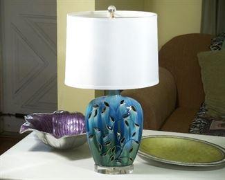 New drip-glazed ceramic lamp