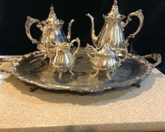 wallace baroque Tea Set silver plate