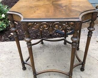 Antique beautiful side table or entry table.  Solid wood