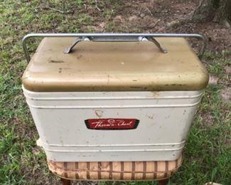 Vintage metal cooler