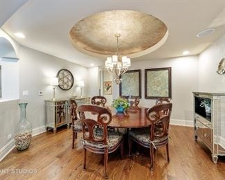 The dining table and chairs MAY NOT be for sale, the family will decide closer to the sale dates.