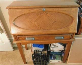 Slant Front Oak Desk
