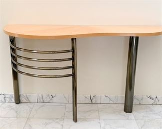 Contemporary Metal & Wood Console Table
