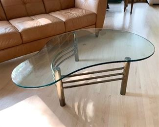 Contemporary Metal & Glass Cocktail / Coffee Table