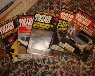 1980's issues of Motor Trend magazines.