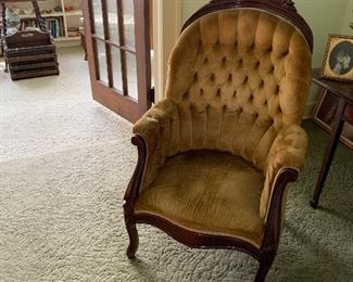 Victorian king chair