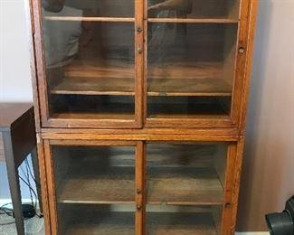 Antique Globe Glass Display Cabinet