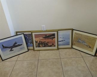 Framed Navy Convair Aircraft Pictures