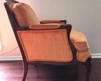 Bergere chairs, Pair