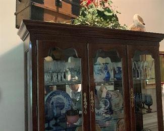 Antique trunks, cottage decor, beautiful vintage china