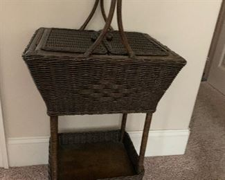 WICKER SEWING STAND