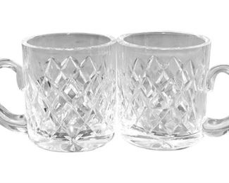 Two (2) WATERFORD Cut Crystal Mugs