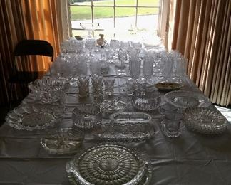 Lots of vintage crystal  in this house!