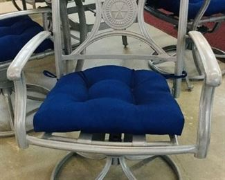 Chairs that swivel & rock with new cushions  New condition