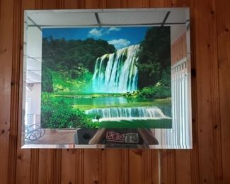 Mirrored Waterfall Picture