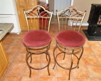 Counter Height Iron chairs set of 4