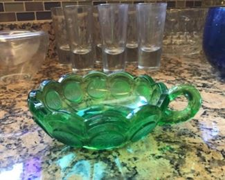 Coin glass Nappy dish, vintage Drink glasses