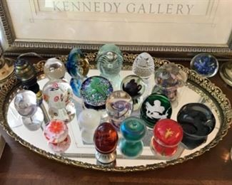 Nice Paperweights Many signed