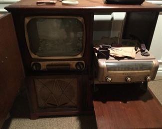. . . what a find!  -- an early TV/stereo combo!