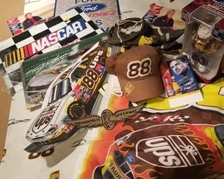 UPS #88 NASCAR  items and other racing memorabilia