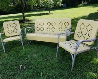 Vintage Glider and Chairs