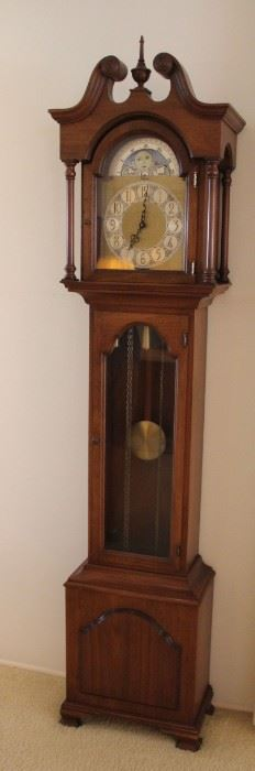 "#4 $200.00 Colonial grandmother clock 73""h X 16""w X 9""d"