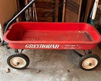 Greyhound Red Wagon