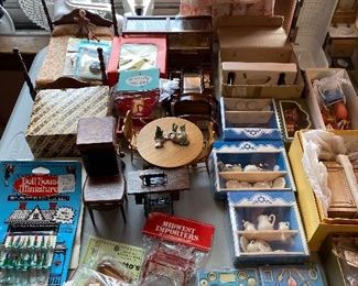 Very nice vintage doll furniture never used with tags