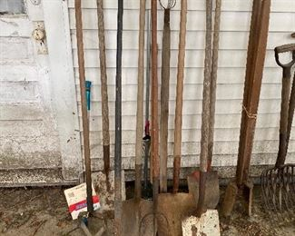 Vintage and Primitive Yard Tools