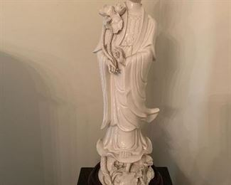 """Guan Yin 23"""" porcelain Statue-$350 now 1/2 off price is $175"""