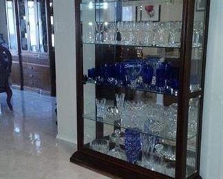 Beautiful mahogany glass and mirror curio cabinet