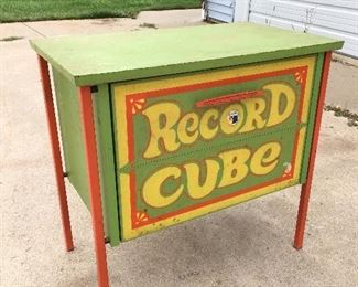 Record Cube album holder straight from the 1960's.